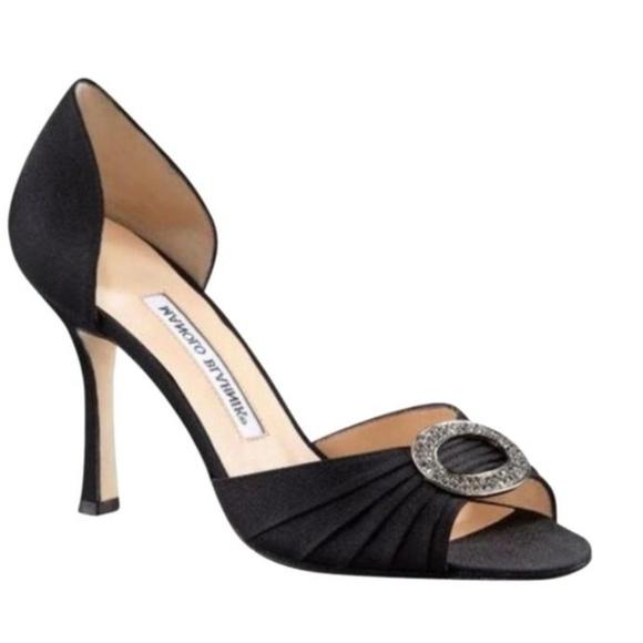 ba2798addd85c Manolo Blahnik Shoes | Crystal Dorsay Heels | Poshmark